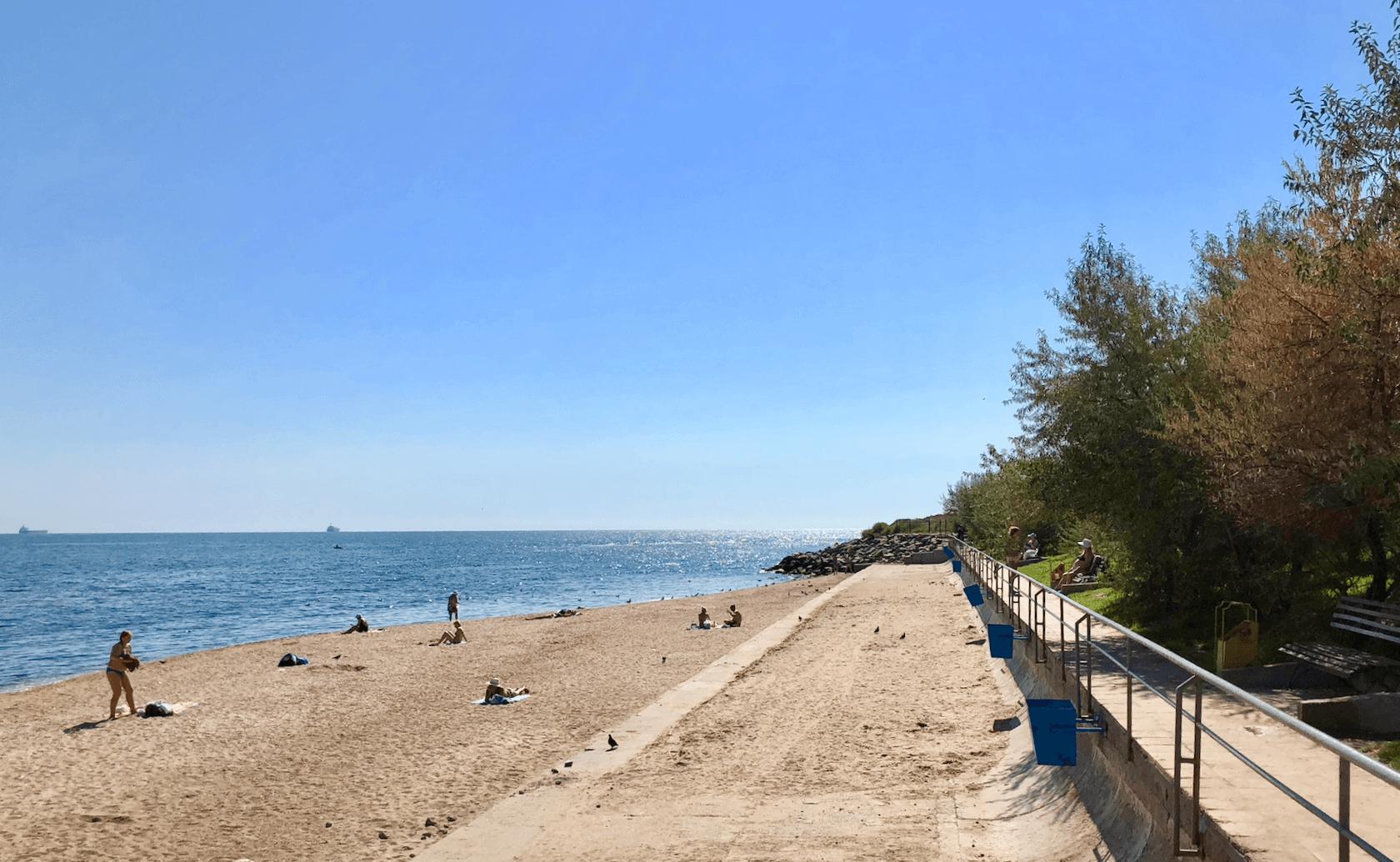 Отдых в Черноморске, центральный пляж