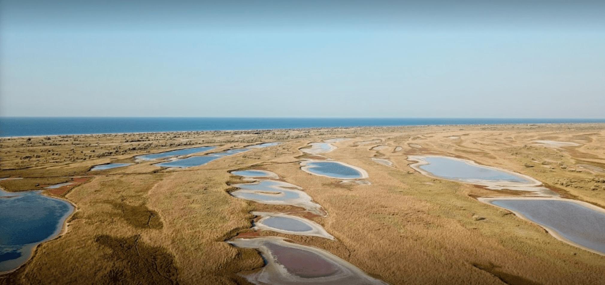 Остров Джарылгач - вид сверху